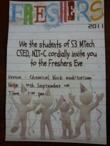 NITC MTech CSE Freshers Day